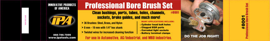 Professional Bore Brush Set Package Sleeve - IPA Tools