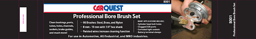 Professional Bore Brush Set Sleeve for CarQuest Tools