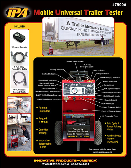 Sell Sheet for the Mobile Universal Trailer Tester (MUTT) for IPA Tools